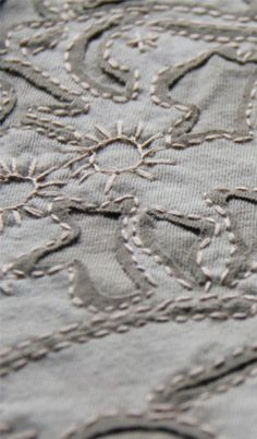 "Stitching shown on Alabama Chanin's ""Event"" page…"