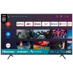 Hisense 75H6510G 75-Inch LED Android 4K Ultra Smart HDTV $599.99 (40% off) @ Best Buy Netflix Tv, Electronic Deals, Stranger Things Netflix, Cool Things To Buy, Stuff To Buy, Android Apps, Led, Electronics, Accessories