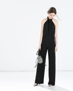 ZARA - WOMAN - CREPE JUMPSUIT WITH BACK BOW