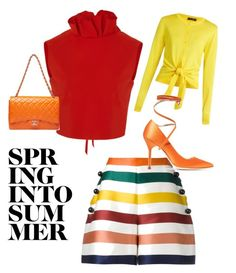 """Sporting Shorts Style!"" by artofclassyandfabulous on Polyvore featuring Carolina Herrera, SemSem, Dolce&Gabbana and Vetements"