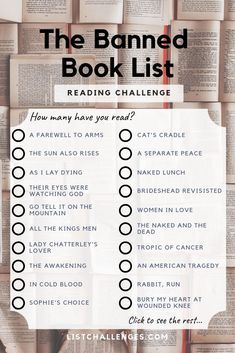 Banned Classics Book Club Books Books Everyone Should Read Book Challenge