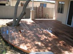 curved deck - Yes this is what our deck will look like