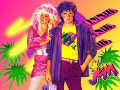 Jem and Rio equals Martha & Dave!Jem and Rio equals Martha & Dave! Jem Et Les Hologrammes, Jem Doll, Jem And The Holograms, Old Cartoons, Cartoon Art, Jem Cartoon, Barbie Friends, The Good Old Days, 80s Fashion