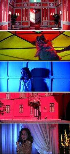 Witch! Suspiria, Dario Argentos 1977 Dark Italian Fairytale. One of the last movies shot in technicolor hence the amazing vibrant colours.