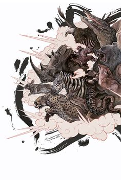 explode by AJ Frena, via Behance