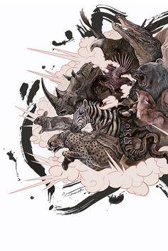 explode by AJ Frena, via Behance