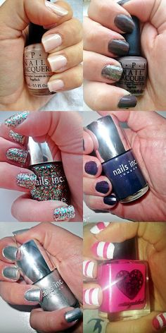 Nails. NOTD. Nail of the day. OPI. Glitter. Sparkly. Pink. Purple. Nail Inc.