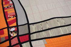 Line quilt, detail by Umzavi - Kristin La Flamme