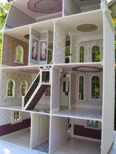 "Dollhouses by Robin Carey: ""The Orchid House"" Dollhouse with Shops"