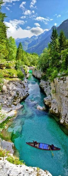 Emerald river, Soča,