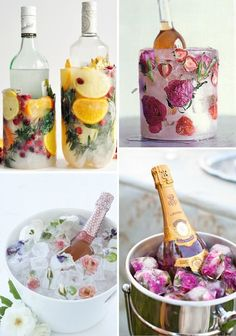 WE ♥ THIS!  ----------------------------- Original Pin Caption: Summer DIY | Ice buckets - French By Design