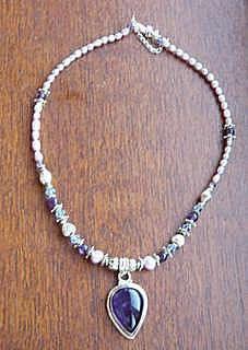 amythest necklace
