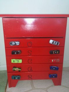 Matchbox car storage