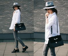 Shirt, Hat, Jeans, Bag, Shoes