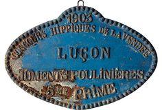 Antique French Equestrian Plaque