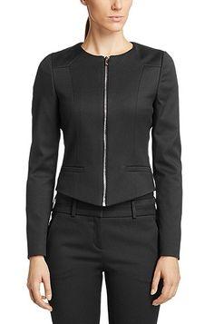 Short blazer 'Arisell' in a cotton blend , Black