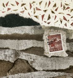 Rice Paddies Collage by Carol Leigh