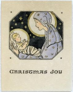 806 20s Norcross Mary Jesus Vintage Christmas Greeting Card | eBay