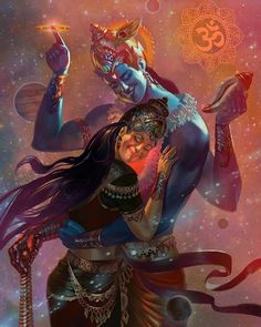 Vishnu and Lakshmi is one of most well-known and enduring love stories in Hinduism- because every time Vishnu incarnated, she incarnated… Shiva Tandav, Shiva Art, Krishna Art, Hindu Art, Lord Shiva Painting, Krishna Painting, Tanjore Painting, Lord Krishna Images, Radha Krishna Images