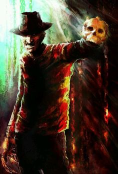 The Sideshow Collectibles Freddy Krueger Premium Format Figure art piece. Freddy Krueger, Robert Englund, Horror Icons, Horror Films, Horror Villains, Maze Drawing, Horror Monsters, Iconic Movies, Nightmare On Elm Street