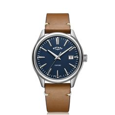 Rotary Mens Oxford Strap Stainless Steel Watch - 9 off for sale online Calf Leather, Brown Leather, Rotary Watches, Skeleton Watches, Watch Case, Modern Man, Black Enamel, Stainless Steel Case, Watches For Men