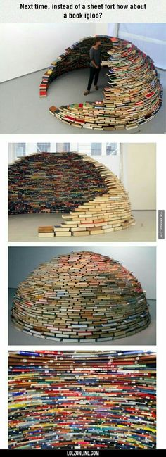 Funny pictures about Book Igloo. Oh, and cool pics about Book Igloo. Also, Book Igloo photos. Books And Tea, I Love Books, Good Books, Books To Read, My Books, Funny Pictures For Kids, Amazing Pictures, Funny Images, Book Memes