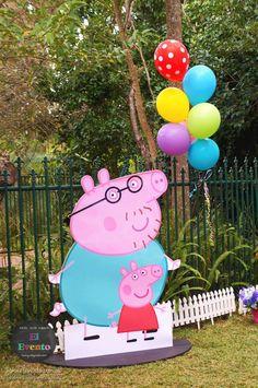 Peppa Pig 3rd birthday party via Kara's Party Ideas KarasPartyIdeas.com Printables, cake, decor, desserts, games, and more! #peppapig #peppapigparty (13)