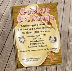 Cookie Exchange Party Invite by SweetTreatsDesignsLJ on Etsy