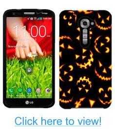 Verizon LG G2 Halloween Jack-o-Lantern Pattern Phone Case Cover