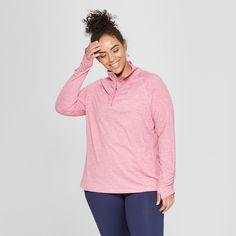 7ae73b496741b Women s Plus Size Long Sleeve 1 2 Zip - C9 Champion Terracotta Pink Heather  2X