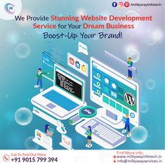Milkyway Infotech is providing top-class website development services with 100% client satisfaction. Get your dream business with stunning websites that boost your business faster. Call ☎️ at : +91-9015-799-394 . . #development #websitedevelopment #webdevelopment #websitedesign #webdesign #developer #designing #technology #design #software #softwaredevelopment #business #digitalmarketing #milkywayinfotech Website Services, Technology Design, Software Development, Digital Marketing, How To Find Out, Web Design, Business, Top, Design Web