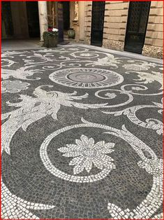Pebble Mosaic, Stone Mosaic, Mosaic Art, Mosaic Glass, Mosaic Tiles, Mosaics, Mosaic Floors, Tile Flooring, Garden Paving