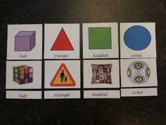 ANG mitt material: Montessorimaterial parövning former