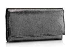 Black Color Genuine Leather party clutch