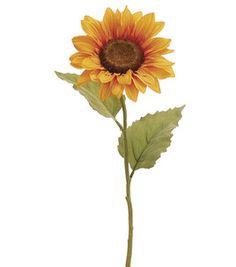 Club Pack of 24 Marigold Yellow Sunflower Artificial Floral Craft Sprays 24 Sunflower Head, Yellow Sunflower, Blooming Sunflower, Paper Sunflowers, Flower Names, Silk Plants, Sunflower Tattoos, Mellow Yellow, Artificial Plants