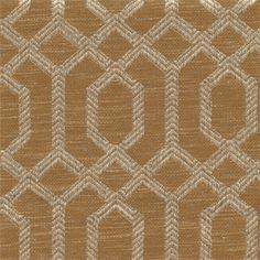 Parquet Nutmeg Brown Geometric Upholstery Fabric