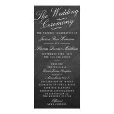 "The Fancy Chalkboard Wedding Collection Programs (<em data-recalc-dims=""1"">$0.45</em>)"