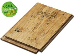 Order an Distressed Natural Fossilized® Strand Wide Plank Bamboo Flooring Sample<br>Call Toll Free: 1(888)788-2254