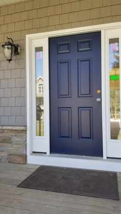 Exterior front door colors curb appeal benjamin moore 41 Ideas for 2019 Painted Exterior Doors, Exterior Front Doors, Painted Front Doors, Exterior Paint, Garage Doors, House Front Door, Glass Front Door, Front Porch, Glass Doors