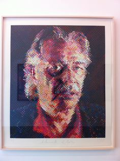 Chuck Close @ The Parrish Art Museum in East Hampton, NY