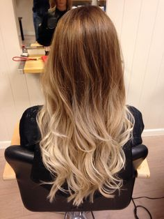 Ombre with curls.