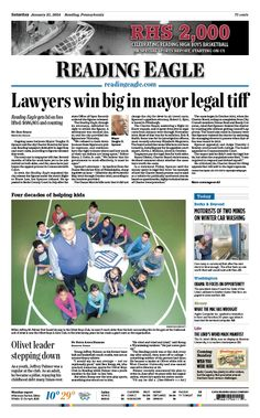 Today's front page. Jan. 25, 2014.