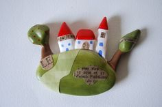 Three Houses on the Hill - Wall Art