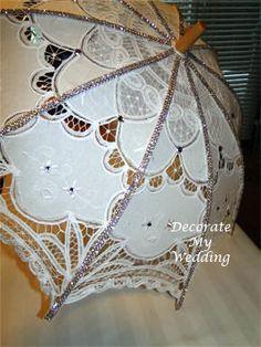 DECORATE MY WEDDING Rhinestone and Swarovski Crystal Wedding Umbrella