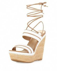 c70b02c62748 X31B9 Stuart Weitzman Abandon Leather Ankle-Wrap Wedge Sandal