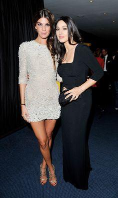 Bianca Brandolini e Monica Bellucci no GQ Men of the Year Awards. Bianca veste Dolce & Gabbana.
