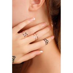 Bronz ve Mat Siyah Renk Bayan Yüzük Kombini Dainty Jewelry, Cute Jewelry, Modern Jewelry, Jewelry Rings, Jewelry Accessories, Jewelry Design, Jewellery, Diy Rings, Boho Rings