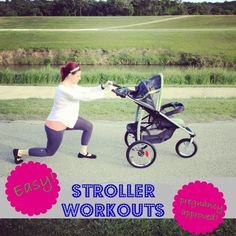 Stay fit with a stroller work out - Mommy Workout, Pregnancy Workout, Workout Fitness, Fit Pregnancy, Easy Weight Loss, Healthy Weight Loss, Baby Fat, I Work Out, Exercises