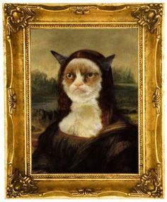 Grumpy Cat as Mona Lisa