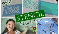 STENCIL na parede + Faça seu próprio STENCIL Stencils, Stencil Diy, Stencil Painting, Wall Stencil Designs, Rideaux Design, Henna Candles, U Tube, Tampons, 3d Wall